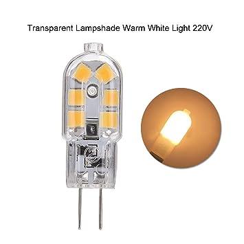 P12cheng G4 AC DC 12 V/220 V Mini LED Bombilla, luz Blanca/