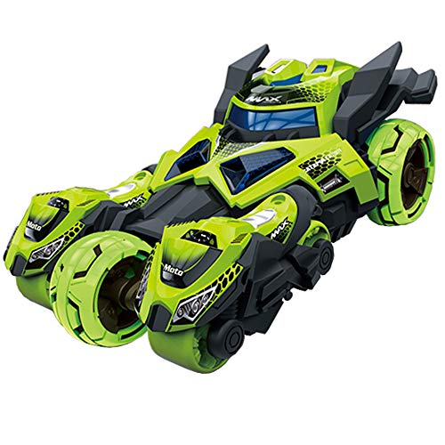 Pull Back Cars Toys, Pull Back Vehicles Motorcycle Launcher Toy Die-cast 3 in 1 Catapult Race Trinity Chariot (Green)