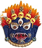 IndianStore4All TIBETAN BUDDHIST Protective MAHAKALA blue color MASK wall hanging Nepal India