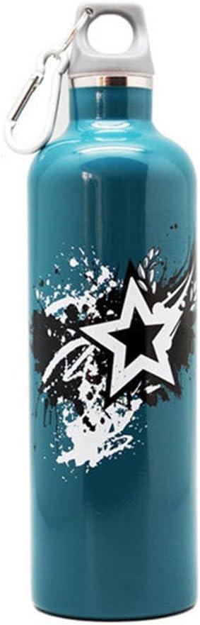 魔法瓶 真空カップポータブルスポーツカップ真空ポータブル屋外漏れ防止ステンレススチールカップマグ屋外トラベルカップブルー 水筒 ボトル