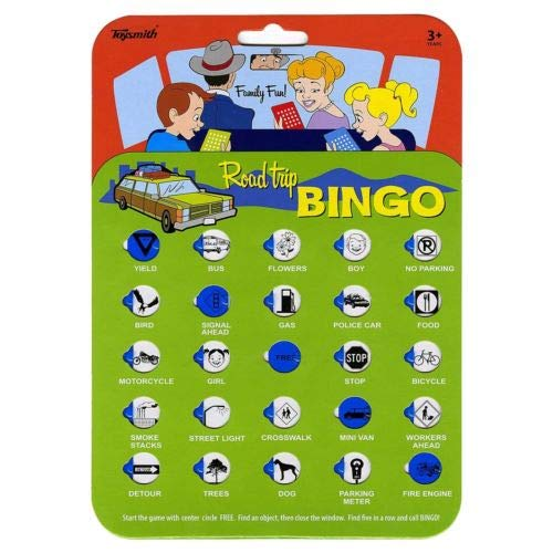 Toysmith 9173 Road Trip Bingo Assorted Colors, 1 Card