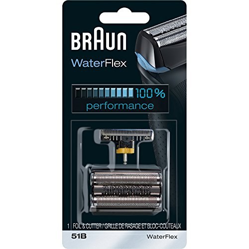 Braun Series 5 51B Foil & Cutter Replacement Head, Compatible with Waterflex - Block Reserve