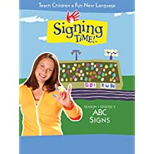 Signing Time Season 1 Episode 5: ABC Signs