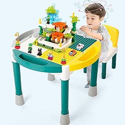 Guohailang Juego del Cerebro 1-6 años de Edad Niño y niña Mesa de Juegos multifunción Mesa de construcción for niños Juguetes ensamblados Rompecabezas Jugar con los Padres y los Amigos: Amazon.es: Hogar