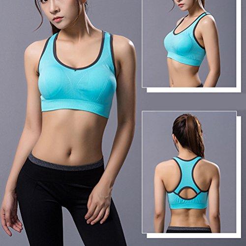 Zhhlaixing Women's Sport Bra Running Jogging Fitness Exercise High Impact Racerback Workout Bra for Yoga Fitness Green
