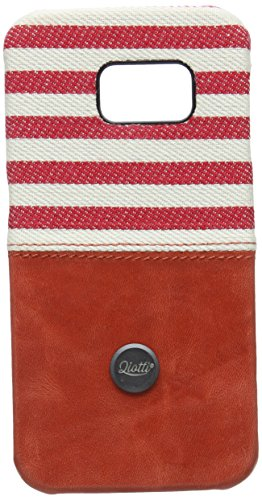 QIOTTI QX-C-0110-04-SGS6E Snapcase Q.Snap Denim Premium Echtleder für Samsung Galaxy S6 Edge rot