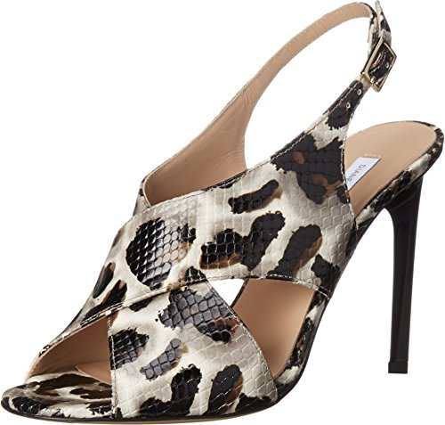 Diane von Furstenberg Women's Vick Snow Cheetah Printed Snake 5.5 B - Medium