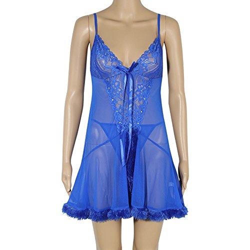 Spring Gift couples summer plush underwear temptation pajamas on document bathrobe girl that blue-YU&XIN