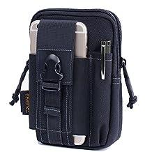 Reebow Gear Tactical EDC Molle Waist Bag 1000D Cordura Nylon Fabric for iPhone 6 Plus Samsung Note 2 3 4 Black