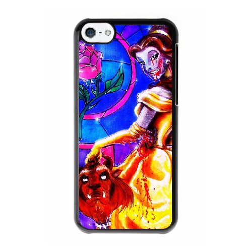Coque,Coque iphone 5C Case Coque, Beauty And The Beast Paintings Cover For Coque iphone 5C Cell Phone Case Cover Noir