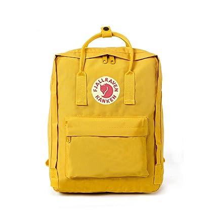DeLamode Deporte al Aire Libre Mochilas de imitación de Piel de Hombro de Instituciones Bolsas 7L-Yellow