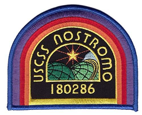 Black USCSS Nostromo Crew Cap Shoulder Costume Prop Alien Movie Patch