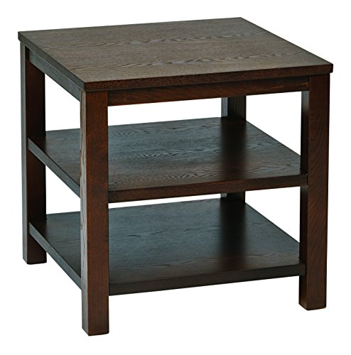 Ave Six MRG09S-ESP OSP Furniture Merge Square End Table, 20″, Espresso