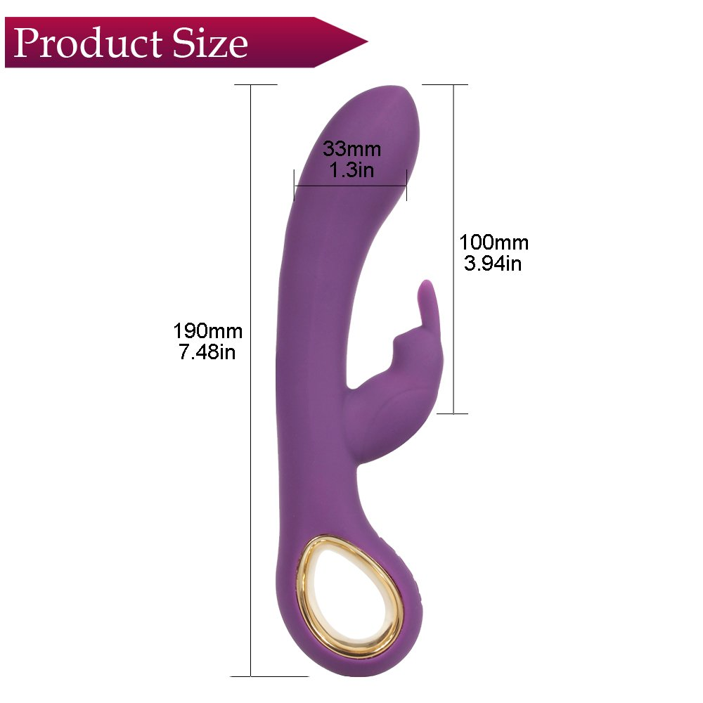 G-Spot Rabbit Heating Waterproof Rechargeable Dildo Vibrator Adult Sex Toys for Women - Everfun Silicone Clitoris Vagina Stimulator Massager Sex Things for Couples