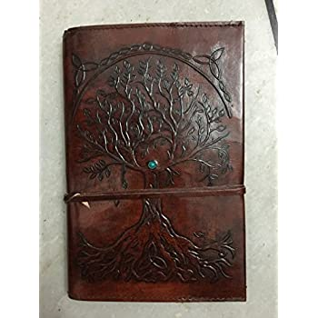 Refillable Leather Journal Writing Notebook, Antique Handmade Leather Bound Daily Notepad For Men & Women, Unlined Paper 9 x 6 Inches, Perfect Gift for Art Sketchbook, Travel Diary notebook