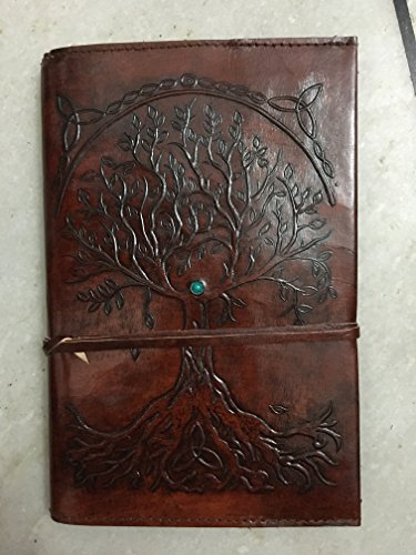 (Refillable Leather Journal Writing Notebook, Antique Handmade Leather Bound Daily Notepad For Men & Women, Unlined Paper 9 x 6 Inches, Perfect Gift for Art Sketchbook, Travel Diary notebook)