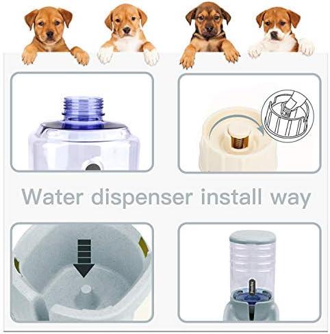 UniqueFit - Comedero automático para Mascotas, Gatos, Perros y Gatos, 3,8 l, con 1 dispensador de Agua y 1 alimentador automático para Mascotas 6