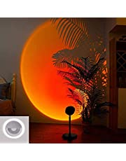 LED Rainbow Sunset Projection Floor Lamp ,for Living Room Bedroom Romantic Projector Gift (sunset)