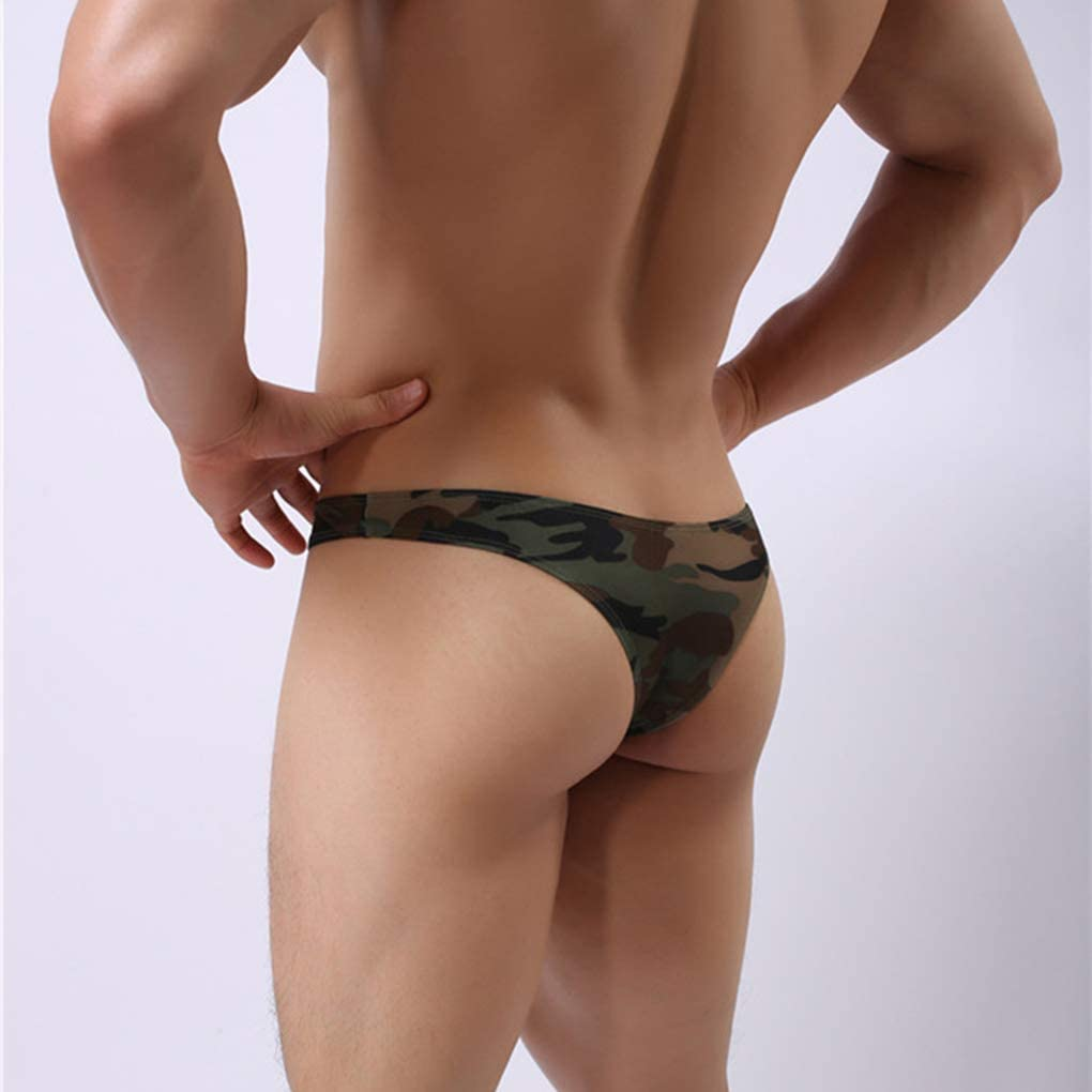 Stevlogs Men Male Camouflage Briefs Low-Waist U Convex Underwear Panties Underpants