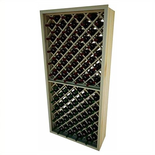 Individual Diamond Rack (Designer Wine Rack Kit - 90 Bottle Individual Diamond Bin -Redwood)