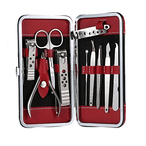 anself-10-in-1-stainless-steel-manicure-pedicure-ear-pick-nail-clippers-set
