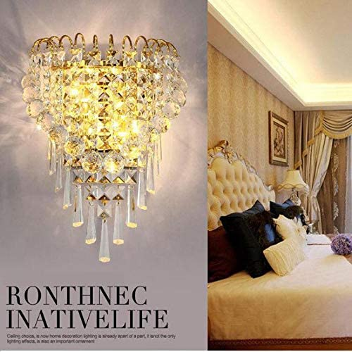 Applique en cristal , grand fond chambre chevet Led applique murale , avec interrupteur de câble hôtel luminaires de éclairage intérieur