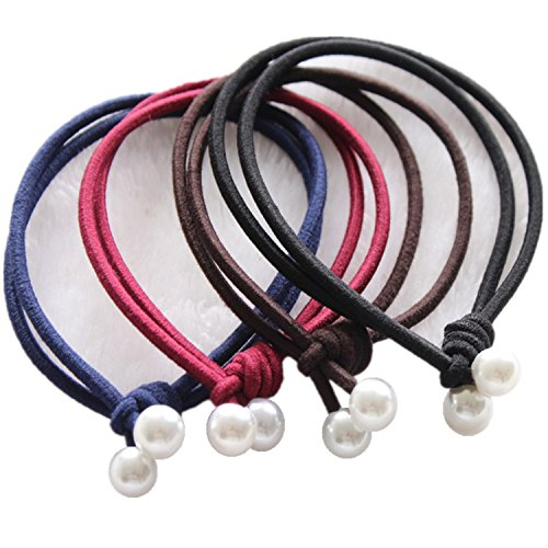Crease Ponytail Holders Elastic Womens product image