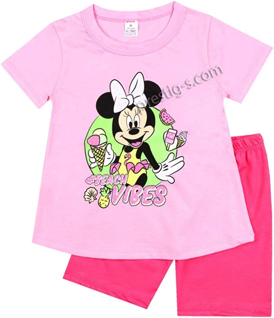 Pijama de beb/é ni/ña 100 /% algod/ón de manga corta pijama conjunto de pijama de Minnie Mouse