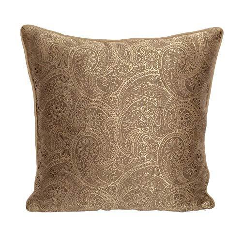 Paisley Satin Pillowcase - pillowerus Satin Paisley Pattern Beige/Gold 18