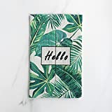 MKKM Life Style Nordic Style Turtle Leaf Cotton and Linen Tissue Bag Book Box Home Car Tissue Sets of Paper Bags,Hello turtle leaves [paper bag],Average code