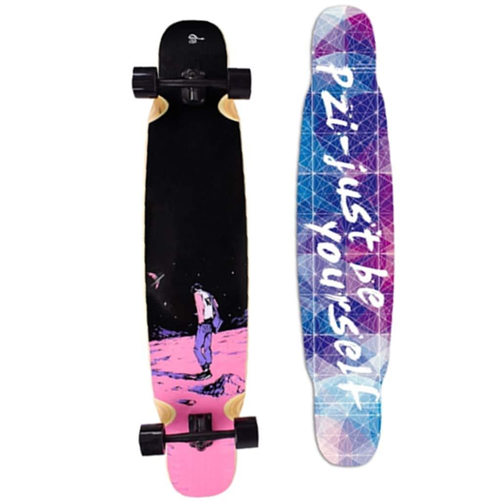 フリースタイルロングボードスケートボードを介し/少年/少女/ティーンエイジャー43インチ×9インチドロップするのに適したスケートボードクルーザー #3