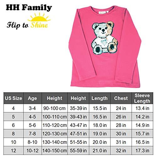 d1b040b7 Jual Glitter Flip Sequin Girl's Cotton T-Shirt Top Short/Long Sleeve ...