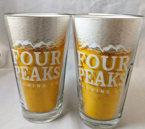 Four Peaks Brewing Company - 16 Ounce Pint Glass - Set of 2
