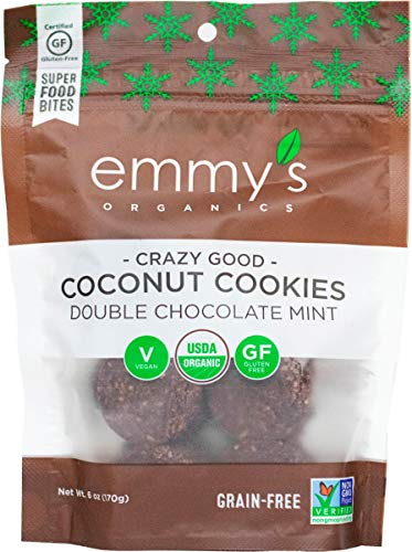 Emmy's Organics Coconut Cookies, Double Chocolate Mint, 6 oz (Pack of 8)