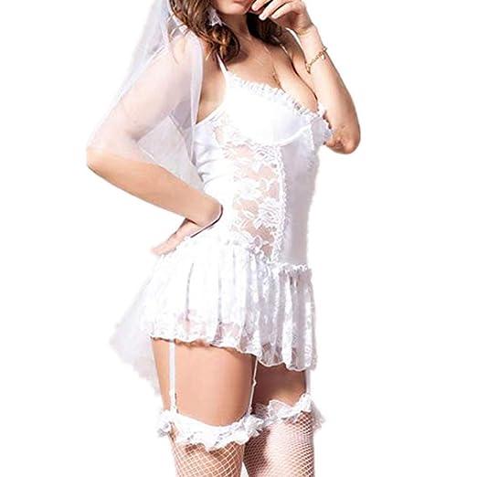 AMA Vestido de lencería Sexy Vestido erótico Adulto Juguete ...