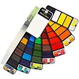 Watercolor Paint Set - 42 Assorted Colors, Professional Artist Travel Mini Portable Pocket...