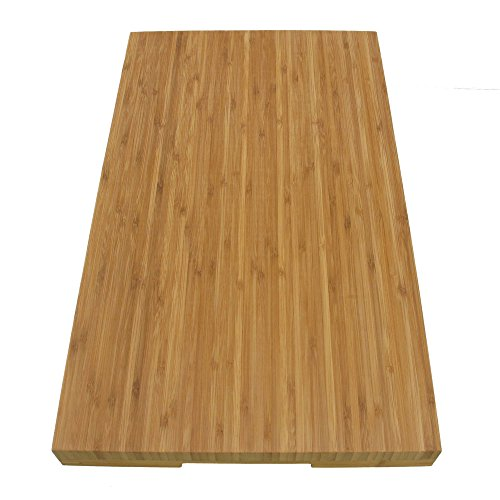 BambooMN Brand Jenn Air Bamboo Range Burner Cover/Cutting Board, New Vertical Cut, Large (20.5