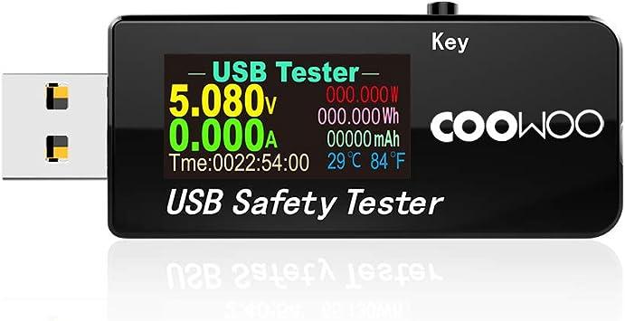 DC Coowoo USB Digital Power Meter Tester Multímetro corriente Y Voltaje Monitor