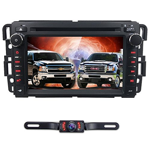 Android 7.1 Car Stereo DVD Player For GMC Chevy Silverado 1500 2012 GMC Sierra 2011 2010 7 inch Quad Core Double Din In Dash Touchscreen FM/AM Radio Receiver Navigation Bluetooth with Backup Camera ()