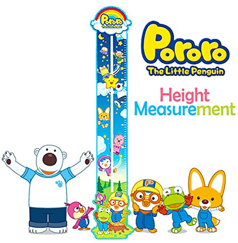 Pororo Height Measurement Growth Chart, Centimeters, Wall Decals (Baby First Tv Growth Chart)