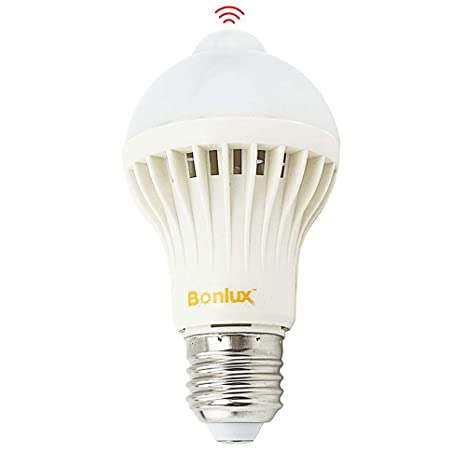 Bonlux Sensor de movimiento PIR 5W ES E27 Bombilla LED infrarrojo Luz Cálida 2800K A60 GLS ...
