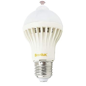 Bonlux Sensor de movimiento PIR 5W ES E27 Bombilla LED infrarrojo Luz Cálida 2800K A60 GLS