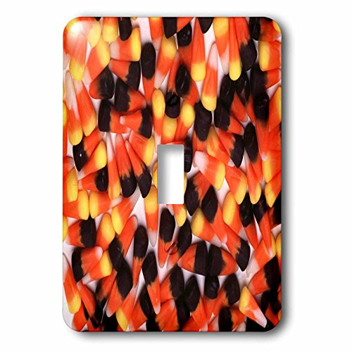 3dRose TDSwhite - Farm and Food - Dark Candy Corn Halloween Treats - Light Switch Covers - single toggle switch (lsp_285105_1) -