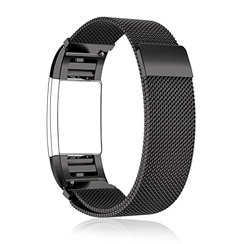 Fitbit-Charge2-Band-Replacement-Large-Small-Taotree-Fully-Magnetic-Closure-Clasp-Mesh-Loop-Milanese-Stainless-Steel-Accessory-Bracelet-Strap-for-Fitbit-Charge2-Fitness-Tracker
