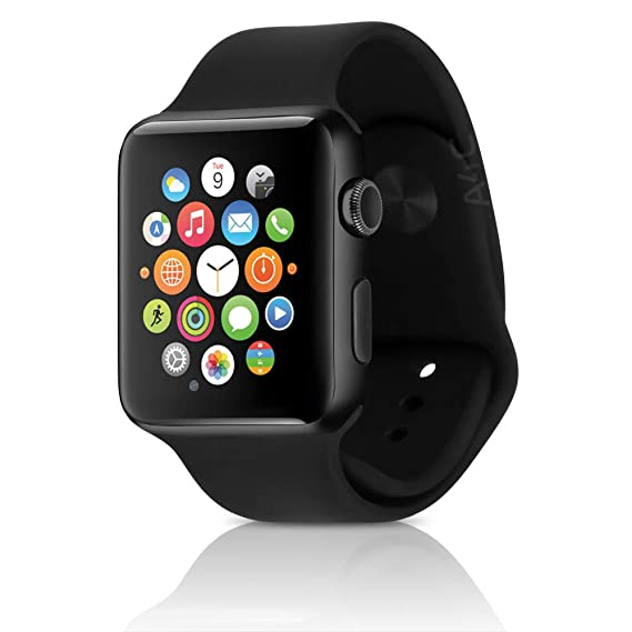new style bff2d d1110 Apple Watch Series 2 Smartwatch 42mm Space Gray Aluminum Case, Black Sport  Band (Renewed)
