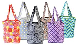 Sachi Insulated Market Totes, Set of 6