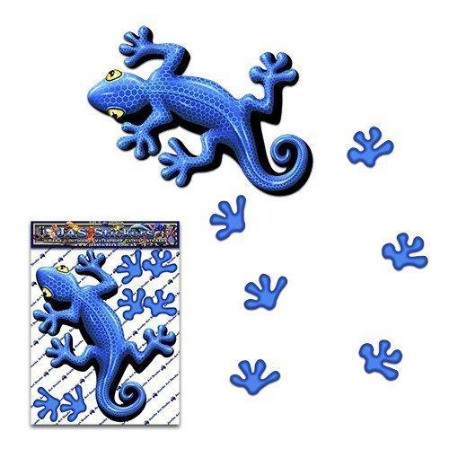 Etiqueta engomada animal del gecko del azul para las caravanas de los carros del coche - ST00031BL_SML - JAS Stickers