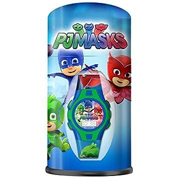 PJ Masks PJ Masks-PJ17021 Reloj Digital en Bote de Metal, Color Colores Surtidos