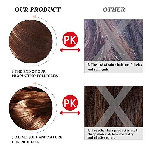 "BARSDAR 26"" Long Straight Ponytail Extension Wrap Around Bleach Blonde Synthetic Hair Extensions One Piece Hairpiece Pony Tail Extension for Women Lady Girl (Long Ponytail Extensions 613#)"