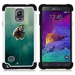 For Samsung Galaxy Note 4 SM-N910 N910 - owl cute funny rain nature bird flying Dual Layer caso de Shell HUELGA Impacto pata de cabra con im????genes gr????ficas Steam - Funny Shop -